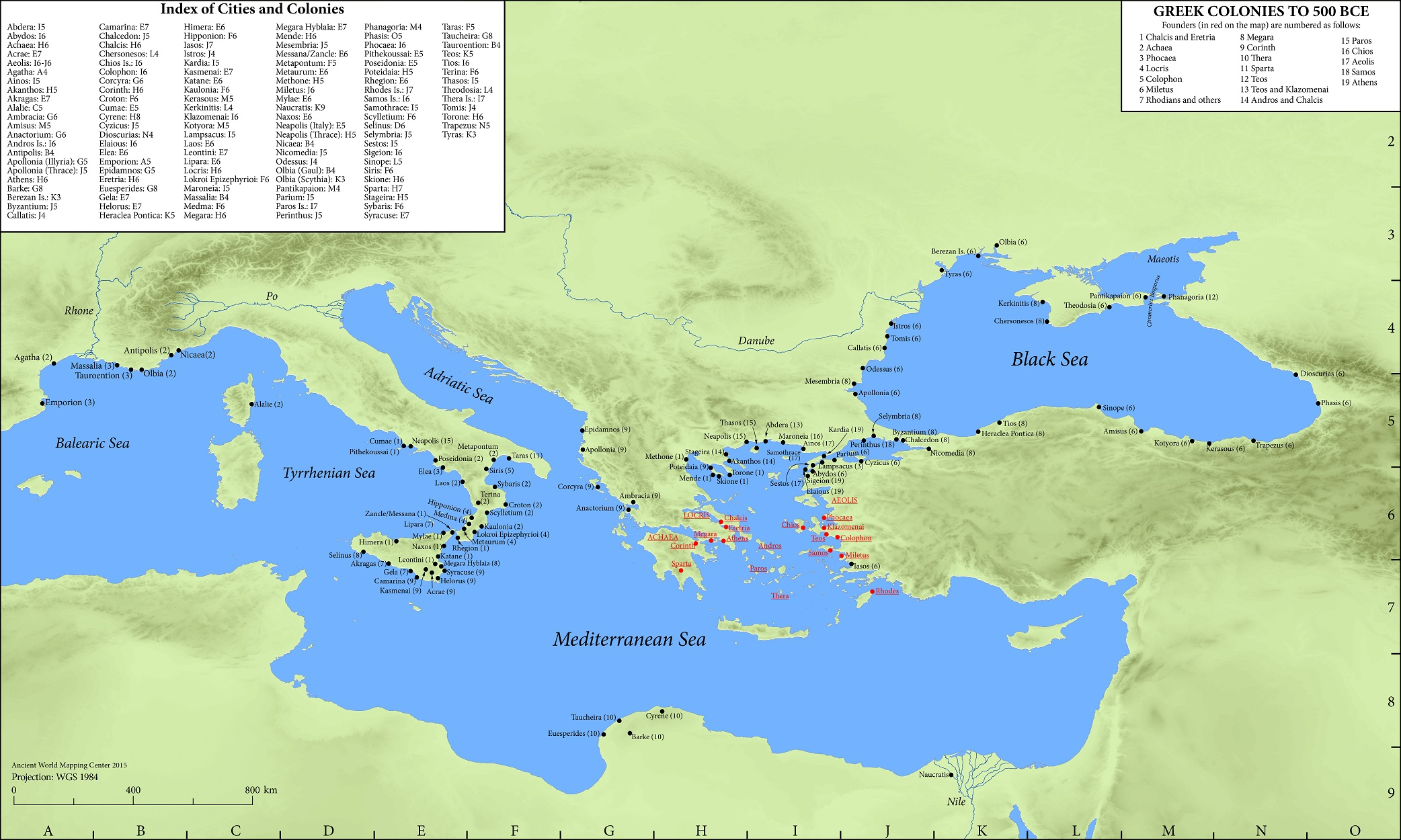 Elegant Greek Colonies To 500 BCE: